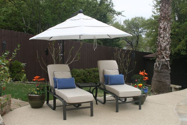 Sunbrella cushions and pillows