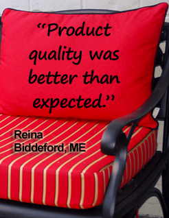 Red Cushions Testimonial Widget