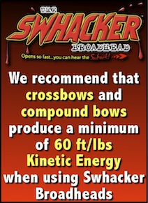 Swhacker crossbow kinetic energy recommendation