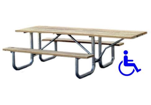 Bench table chair june 2015 for Wheelchair accessible picnic table plans