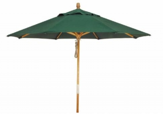 Grosfillex 9ft Wooden Market Umbrella - Patio Furniture | Outdoor