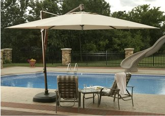 11' Offset Square Umbrella w/ Olefin Canopy - Sam's Club