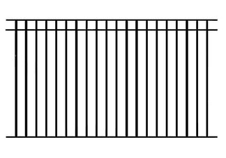 In-ground Removable Safety Fence 4 ft. high x 10 ft. wide panel