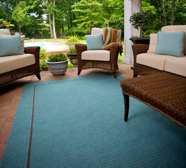 Sunbrella outdoor rugs, acrylic rugs, all weather rugs